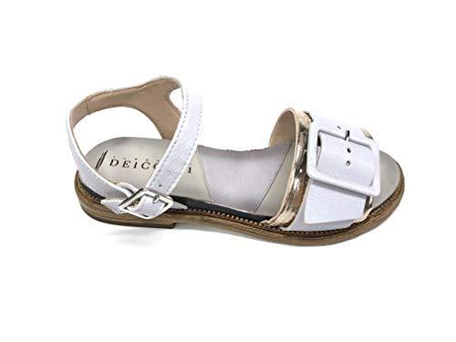 FABBRICA DEI COLLI Sandale Frauen Leder Platin-Weiß Absatz cm 2 Mod 1tato160 - Platin-Weiß, 38 EU