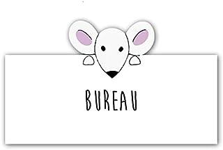 Plaque de porte humoristique souris pour chambre, buanderie, bureau, toilettes, salle de bains, cuisine, privé ou texte pe...
