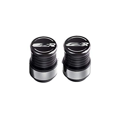 JINBINB Accesorios de la Motocicleta Tapas de la válvula de neumático de la Rueda Cubiertas/Ajuste para Suzuki GSR 150 250 400 600 750 Rim (Color : Silver)