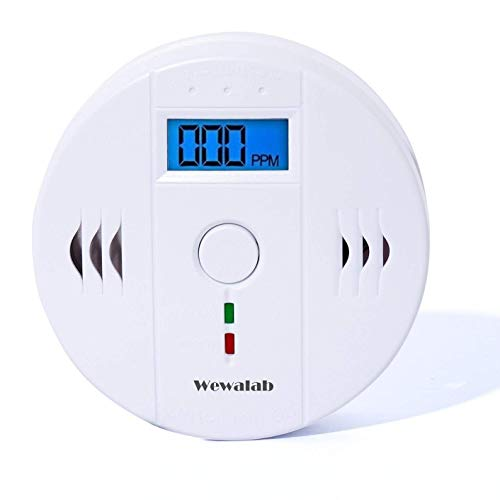Carbon Monoxide Detector, Carbon Alarm Detector with LCD Digital Display Portable Security Gas CO Monitor,Battery Powered (Battery not included)