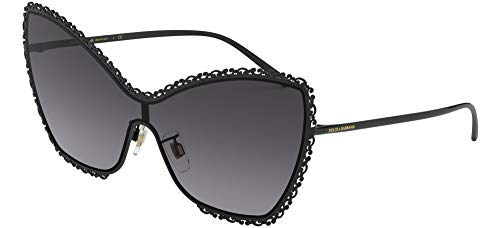 Dolce & Gabbana Gafas de Sol DEVOTION DG 2240 BLACK/GREY SHADED 43/14/145 mujer