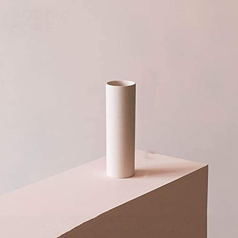前文良さ咽頭QYSZYG シリンダーセラミック花瓶ホームデコレーションセラミックカウンター花瓶サイズ8.5センチ×23センチ、19センチ×6センチ 花瓶 (Size : 19cm×6cm)