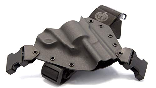 GunfightersINC Kenai Chest Holster for a Ruger Blackhawk, Super Blackhawk, Right Hand,Black-Black
