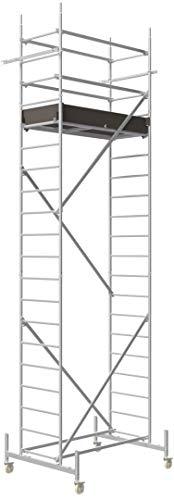 ALTEC Rollfix® 1.0 600-S | 6m AH | Rollen (Ø125mm) | Standardtraverse | Made in Germany | TÜV&GS | belastbar 200kg/m² | Alu Arbeitsgerüst | Baugerüst | Fahrgerüst