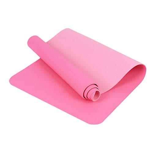Heheja Preumium Yogamatte Aus Hochwertigen TPE,rutschfest Yogamatte Gynastikmatte Übungsmatte Sportmatte Für Yoga, Pilates,Fitness Pink7