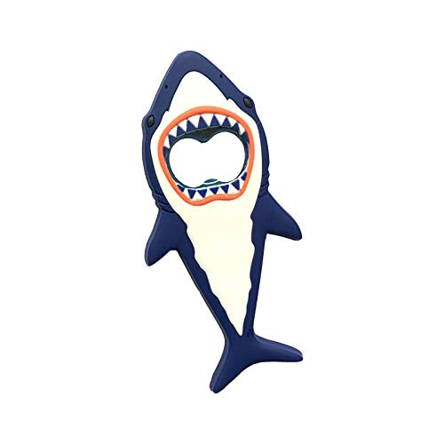 Abridor Botellas 1 PC Shark Beer Bottle APENSIÓN Imán 3D Lindo Dibujos animados Animal Magnet Frigorífico Botella de cerveza Abrebotellas Barra de cocina Herramientas Imán Pegatinas Tarro abridor