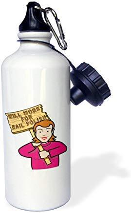 GFGKKGJFD624 Lustige witzige Frau, Mädchen mit einem Schild funktioniert für Nagellack, Aluminium,...
