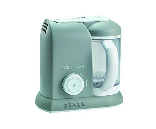 BÉABA - Babycook Solo - Robot de cocina per bambini 4 in 1 Mixer + Cottura- Cottura a vapore - Grigio