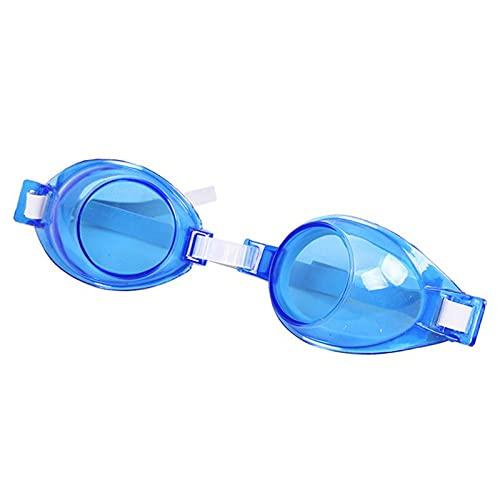 WFSH Vidrios de la Natación Vidrios de la Natación Impermeables Gafas de Baño Espejo Antivaho Ajustable Playa Anti-Uv Piscina la Refracción Del Agua Piscina/Azul/opcs