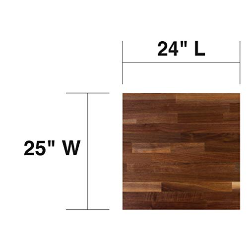 John Boos WALKCT-BL2425-O Blended Walnut Counter Top with Oil Finish, 1.5
