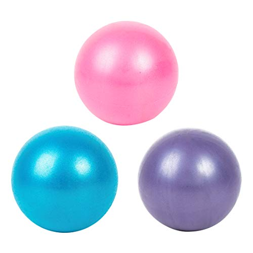 25cm Pilates Yoga Bung Gymnastische Fitness Pilates Ball Balance Bung Gym Indoor Gym Yoga Ball Fitness Yoga Core Ball Gymnastikball,geeignet für Fitness, Bewegung, Formgebung