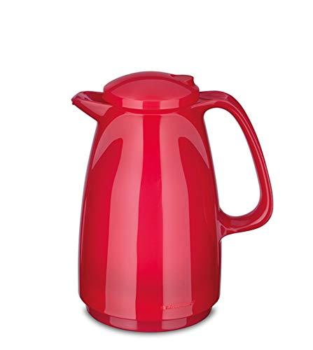 ROTPUNKT Isolierkanne 225 Bella 0,5 l   Zweifunktions-Drehverschluss   BPA-frei - gesundes Trinken   Made in Germany   Warm + Kalthaltung   Glaseinsatz (Glossy Bubblegum)