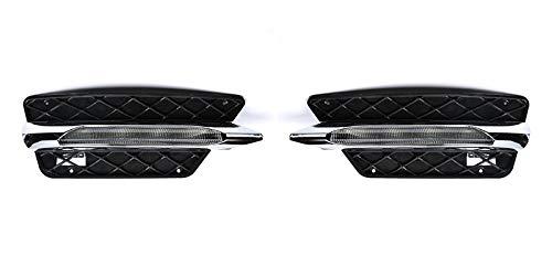 1 paire de feux de jour à LED, feu de brouillard de pare-chocs avant Xtreme Super Bright avec ampoules à LED pour Benz W204 Classe C C300 C260 2013 2014 2015, gauche droite DRL