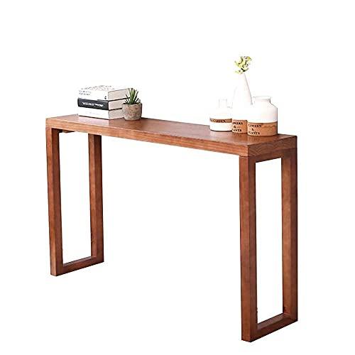 Mesa de entrada, mesa de entrada, consola alta, mesa de bar, escritorio estrecho, fotografías, mesa de decoración para pasillos, salas de estar, restaurante, 3 tamaños, 4 colores para sala de estar,