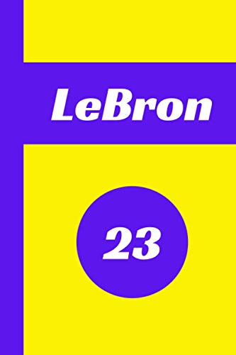 LeBron James Notebook: Blank College Ruled 6'x9' Journal for Los Angeles Lakers Fans