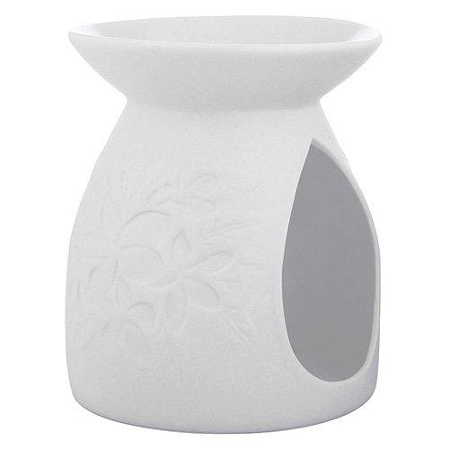 YANKEE CANDLE Pastel Hues Blumen Duftlampe, Keramik, weiß, 12.5 x 7.2 x 12.5 cm