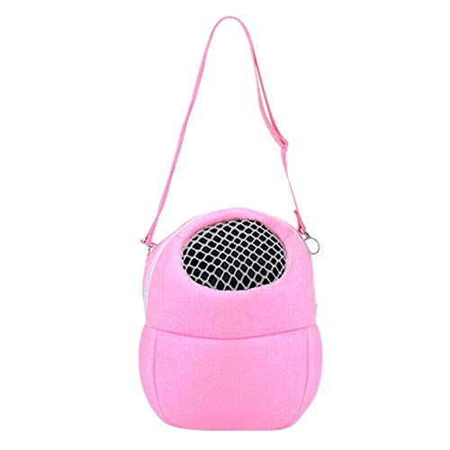 Gebuter Hamster Carrier Bag Portable Travel Backpack Breathable Outgoing Bag bonding Pouch for Small Pets Pet Carrier Bag Soft Sided Carriers Hamster Portable Breathable Outgoing Bag