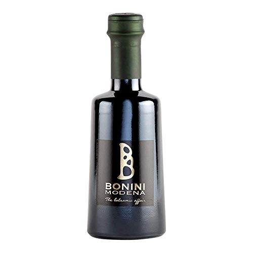 Bonini Produttore di Aceto Balsamico Tradizionale di Modena DOP, Condimento Vivace 250 ml, maturato in botti di 3 anni, Made in Italy, Certificato Kosher, Vegan