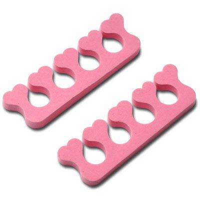 New Nail Art Zehenspreizer/Fingerspreizer Herzform Nagel Design Zubehör Hilfsmittel