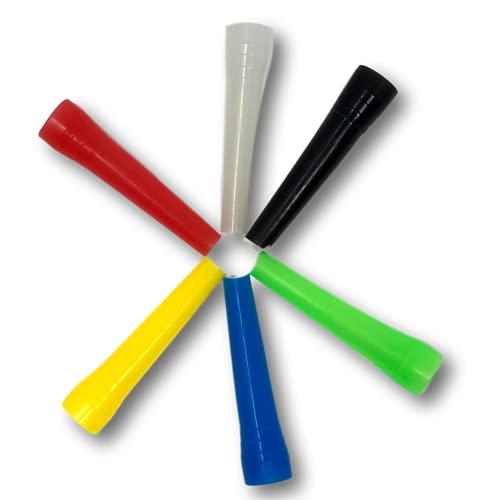 EKNA - Bocchini igienici per narghilè, 100 pezzi, confezione singola, colori assortiti