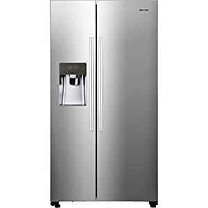 Hisense RS696N4IC1 Freestanding A+ Rated American Fridge Freezer -Stainless Steel Effect