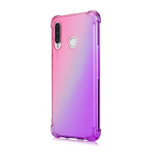 Suhctup Coque Compatible pour Huawei Nova 2 Plus,Ultra-Mince Souple Fin TPU Gel Silicone Crystal Dégradé de Couleur Anti Choc [Coin de logement avec a