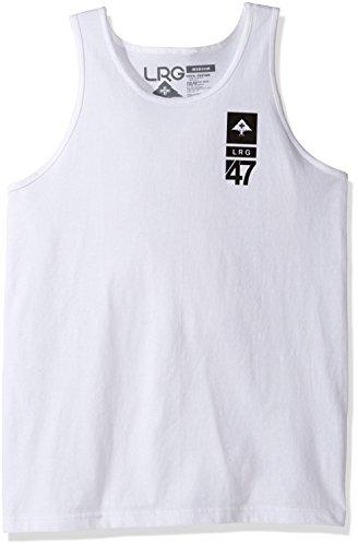 LRG Men's Core Branded Logo Graphic Tank Top, S, LRG White