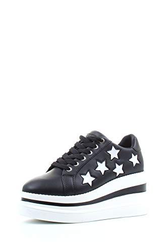 Guess Kraze/Active Lady/Leather Like, Sneaker Donna, Nero (Black Black), 38 EU