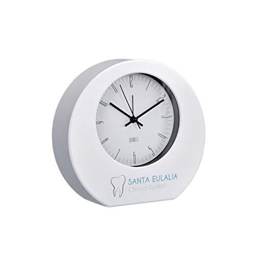 Promo Shop Clásico Reloj Despertador Sobremesa Analogico Blanco Personalizado (Imagen, Foto o Diseño) • Reloj de Mesa Mecanismo de Cuarzo y Alarma • Relojes Personalizados Ideales para Regalar