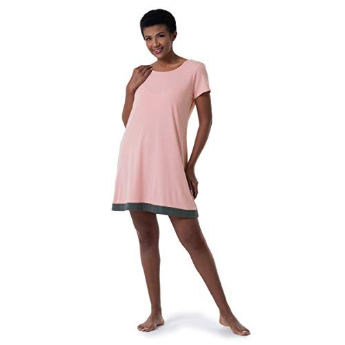 Fruit of the Loom Women s Super Breathable Sleep Shirt, Soft Pink, X-Large