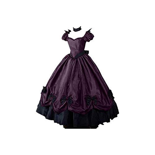 XCAYBH - Vestido de noche victoriano medieval para mujer, estilo gtico, disfraz de Halloween, talla 5XL