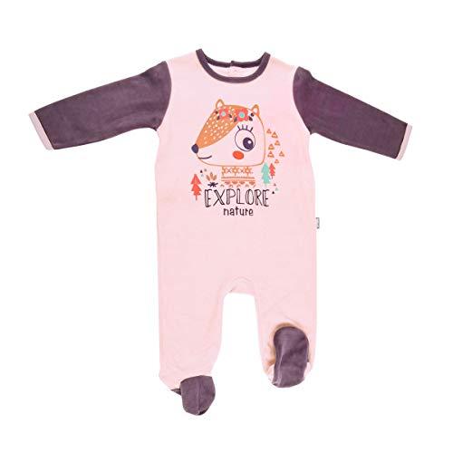 Pyjama bébé velours rose Noisette - Taille - 36 mois (98 cm)
