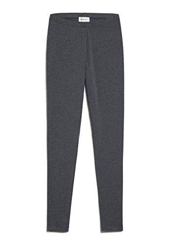 ARMEDANGELS Damen Leggings aus Bio-Baumwoll Mix - SHIVAA - L Dark Grey Melange 96% Baumwolle (Bio), 4% Elasthan Hose Leggings