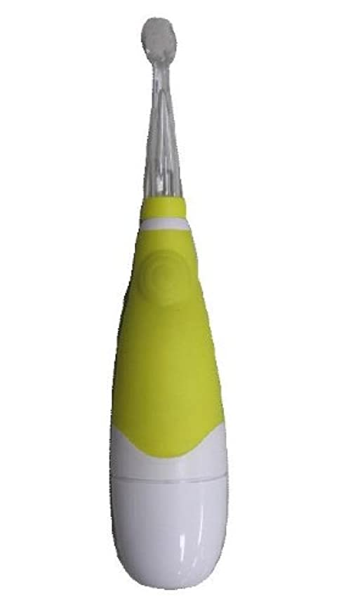 父方の白い退却ヤザワ 赤ちゃん用電動歯ブラシ LED内蔵 オートオフ機能付 KIDS10YL