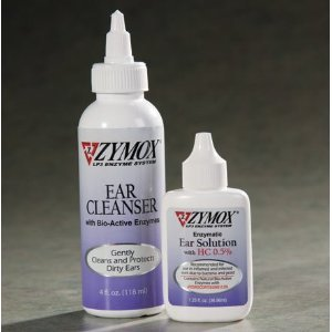 Pet King Brands Zymox Solution for Ear Infections 1.25 oz and Cleaner Set