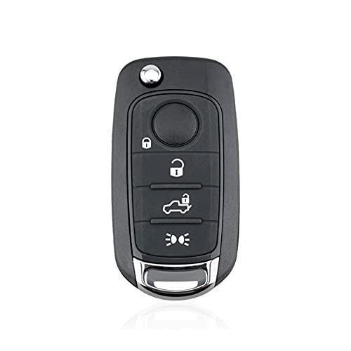 ZXZCV Ajuste para la llave del automóvil Caja de cáscaras 3/4 Botones clave Tecla remota FOB Reemplazo de reemplazo Fit para Fiat Egea Tipo 500x Tecla remota Cáscara Accesorios para automóviles Dropsh