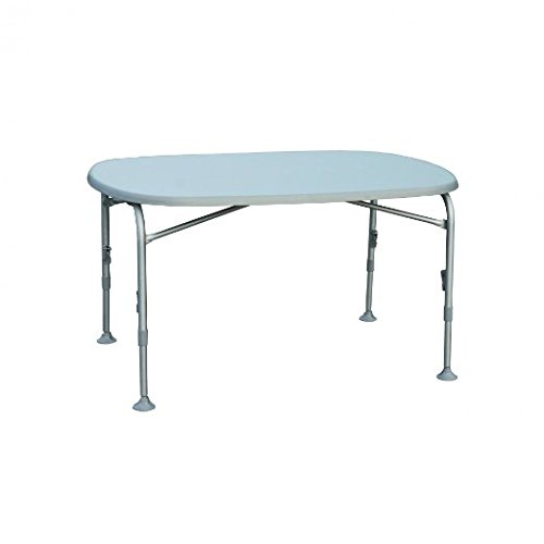 STABIELO - aluminium frame - campingtafel - weerbestendig tafelblad - ovaal 90 x 130 x 5 cm - verstelhoogte 58 - 72 cm - grijs - VERTRIEF - Holly ® producten STABIELO - Innovaties gemaakt in Duitsland - holly-sunshade ® -