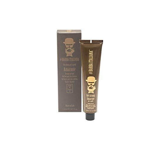 Barba Italiana Amarone Strong hair gel for Men, 120 ml./4.1 fl.oz.