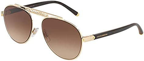 Ray-Ban Women's 0DG2235 Sunglasses, Black (Gold), 57.0