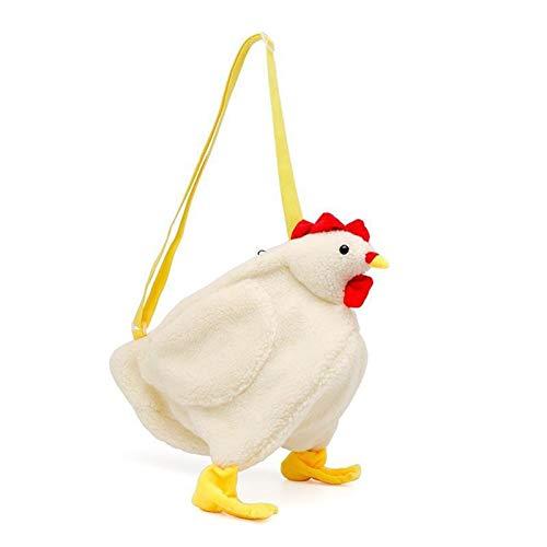 HETUI Stuffed Animal Backpack Plush Bag 2020 Fashion Cute Chicken Duck White Women Messenger Shoulder Bag Cartoon Stuffed Animal Plush Toy Gift For Children Girl Handbag (Color : Chicken)