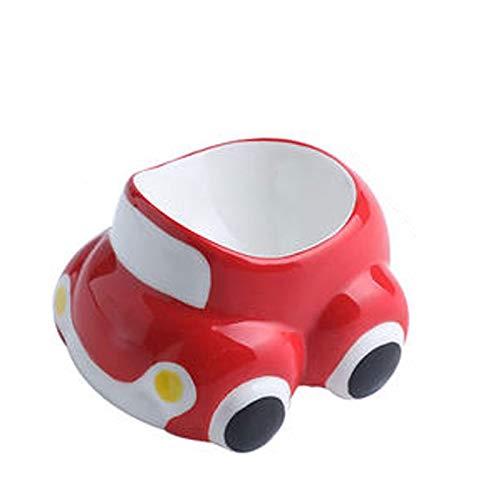 Hueveras Huevera Holder suave linda cerámica huevo hervido de forma Desayuno Almuerzo de coches decoración de la cocina casera (Color : Red)