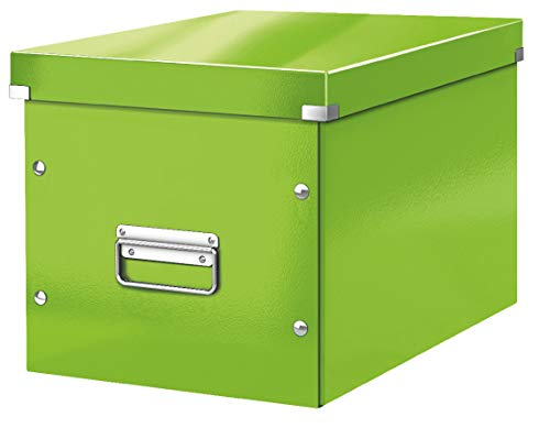 Leitz Click & Store Aufbewahrungs- und Transportbox Cube Groß, Grün, WOW, 61080054