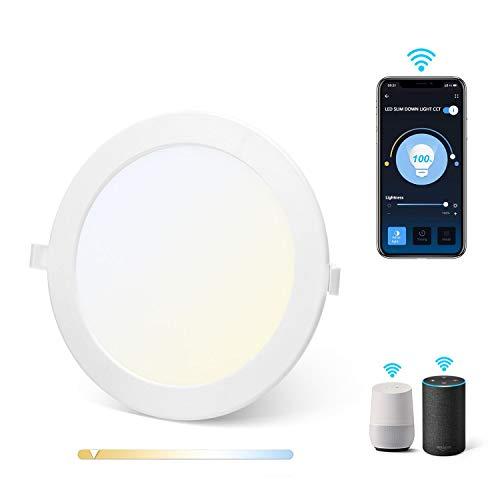 Aigostar Downlight Led Techo Inteligente Ultrafina 18W, CCT. Regulable de luz cálida...