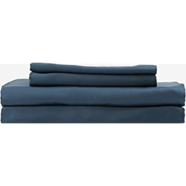 Hotel Sheets Direct 100% Bamboo Bed Sheet Set (Queen, Navy Blue)