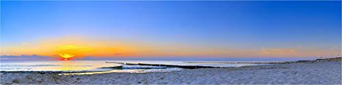 Bis 3 Meter Breite! XXXL Panorama Farbdia, Ostseestrand Langen Düne, zur Hinterleuchtung versandfertig gerollt, Wechselmotiv Bild für unsere LED Acrylglas Leuchtbilder