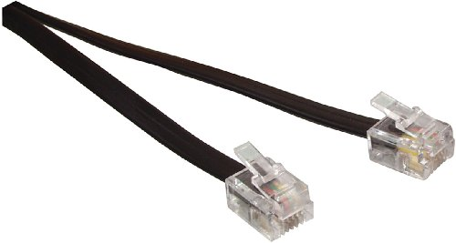 Valueline TEL-0011B Cordon téléphone RJ11 mâle ET RJ11 mâle Noir