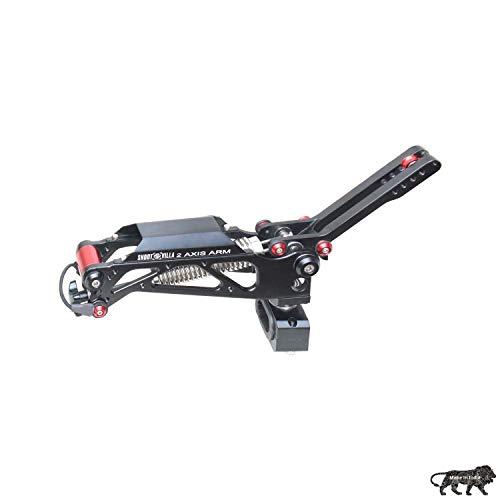 SHOOTVILLA 2-Achsen-Dämpfungsarm, 5–20 kg Kapazität für einfaches Flowrig-Video-Filmkamera-Unterstützungssystem, Handheld-Gimbal-Stabilisation, Weste, Camcorder, Steadycam BodyMount Stabilisator