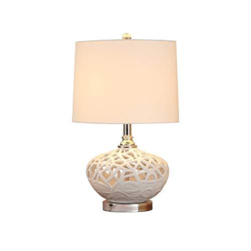 Nightstand Lamp Table Lamp New Chinese Bedside Lamp Bedroom Table Lamp Romantic Wedding Table Lamp Creative White Ceramic Nest Home Lighting Modern Desk Lamp Simple Night Light
