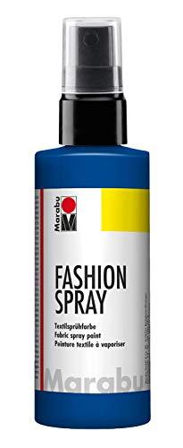 Marabu - Vernice per Stoffa con erogatore Spray, 100 ml, Colore Blu Marino