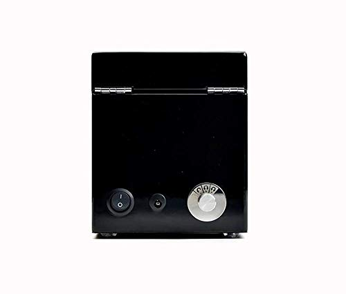 HKX Organizador Caja de baratijas Caja de joyería Caja de Reloj de acrílico Pintura de Piano Caja de Reloj mecánico Agitador automático